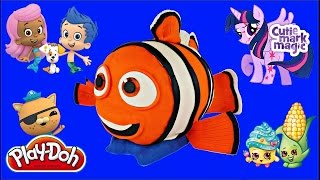 FINDING DORY GIANT NEMO Surprise Play Doh Egg| FINDING NEMO