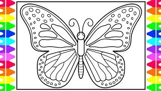butterfly coloring drawing draw pages