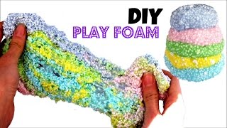 DIY: How to make PLAY FOAM or FOAM CLAY