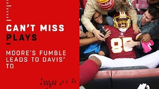 D.J. Moore's Fumble Leads to Vernon Davis' TD!