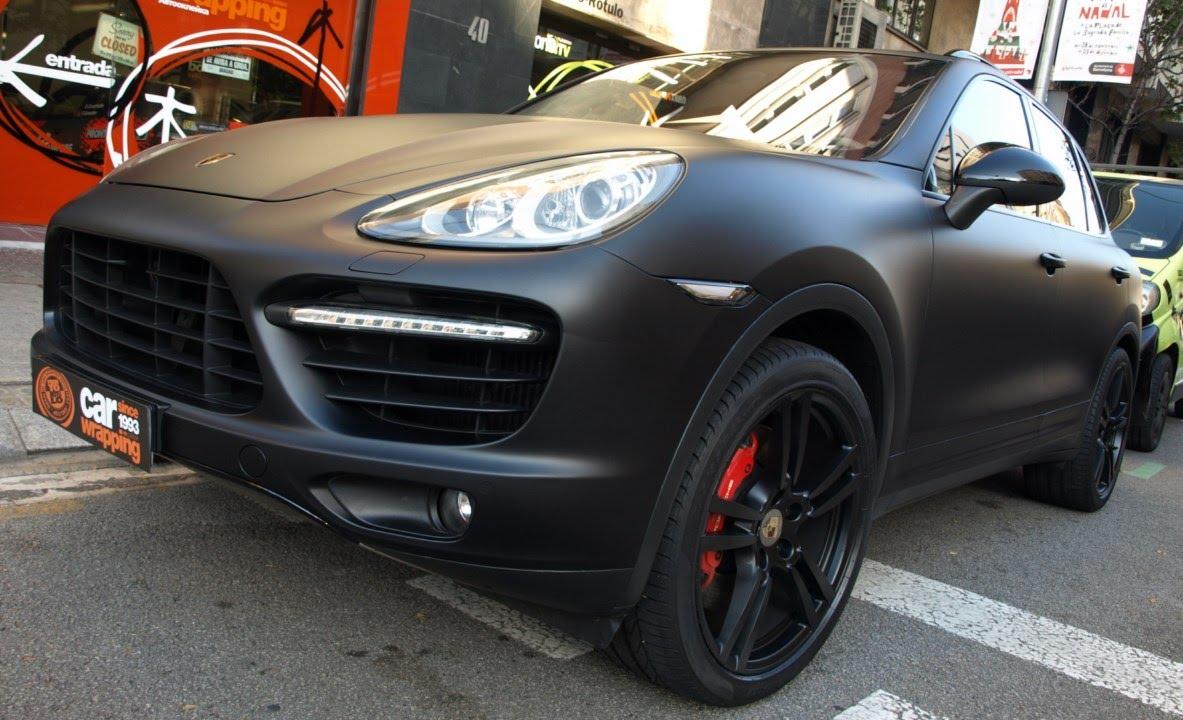 Negra Mate Porsche Cayenne Turbo Toda En Negro Car