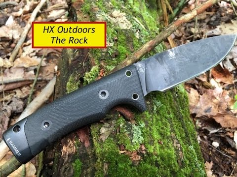 "HX Outdoors ""Rock"" Review-A high value survival  knife"