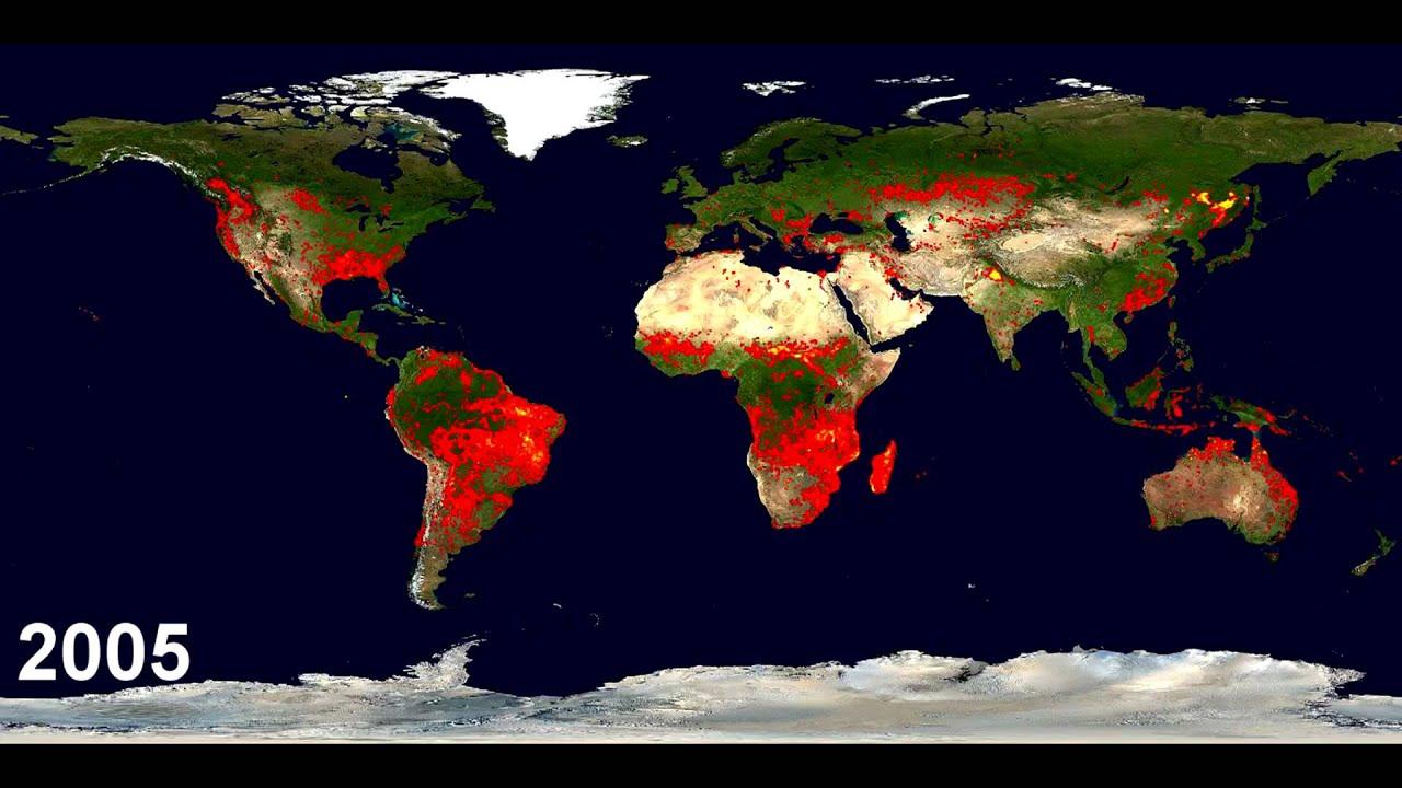 Modis Rapid Response System Global Fire Maps
