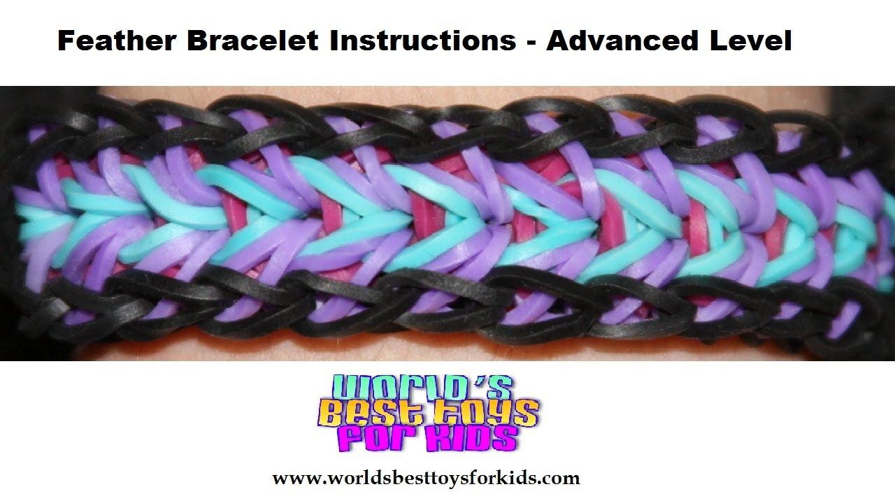 Rainbow Loom Rubber Band Refill Feather Bracelet