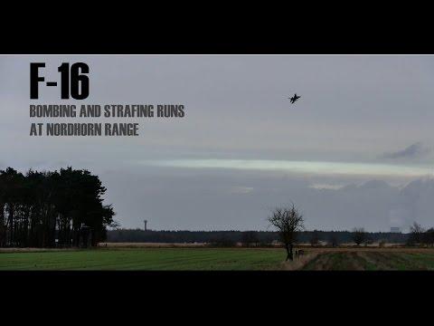 F-16 Strafing & Bombing Runs @ Nordhorn Range