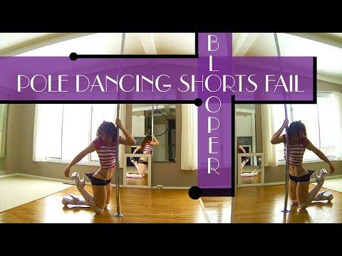 Pole Dancing Shorts Fail : Blooper Freestyle