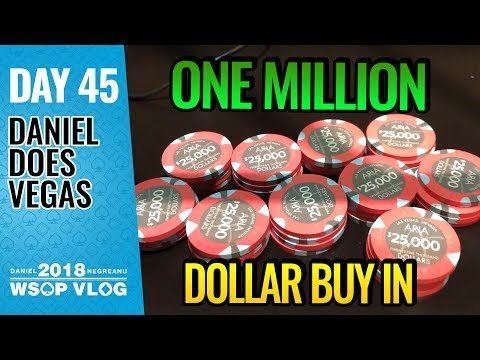 $1,000,000 ONE MILLION DOLLAR BUY IN - 2018 WSOP VLOG DAY 45