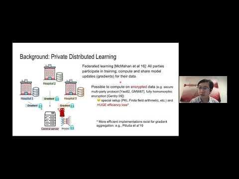Instance-Hiding Schemes for Private Distributed Learning -Sanjeev Arora