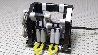 LEGO Pneumatic Motorized Compressor with Building Instructions