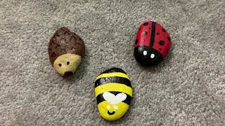 Rock Painting with Louise: Let's paint a bumblebee rock!