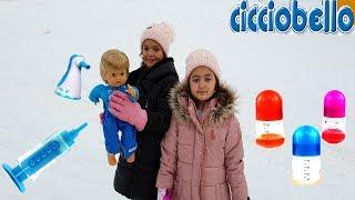 Cicciobello Kar Oynadı Hastalandı ! Toy Baby Snow Played Sick - Funny Kids Video