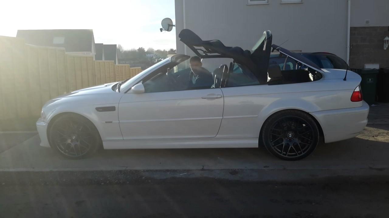 Bmw M3 Convertible >> BMW M3 3.2l e46 white convertible csl alloy wheels review - YouTube