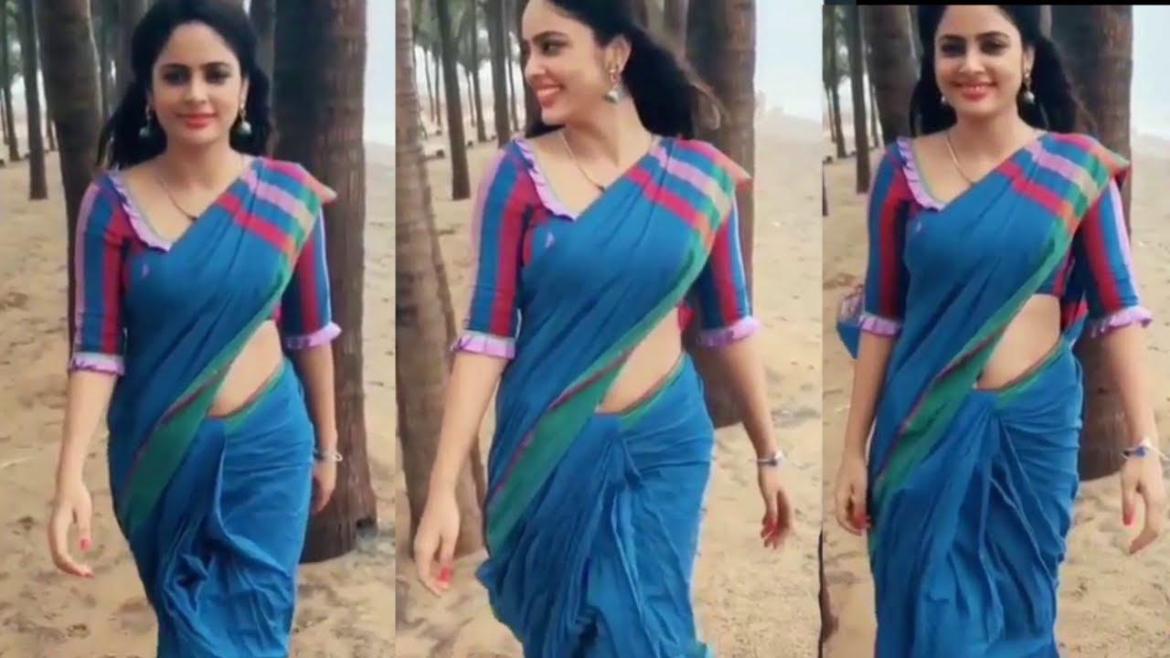 Actress Look So Beautiful In Blue Saree Bollywood Actress Saree Draping Iqube Saree Designs Youtube