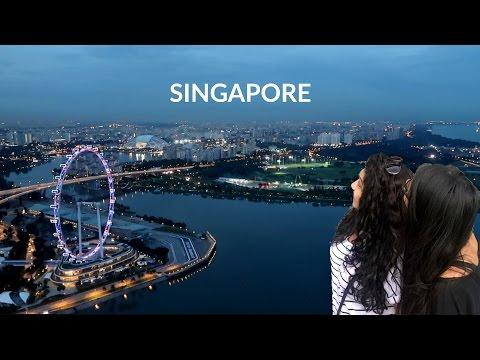 SINGAPORE TRAVEL VLOG; MARINA BAY SANDS SKYPARK / Nishi V