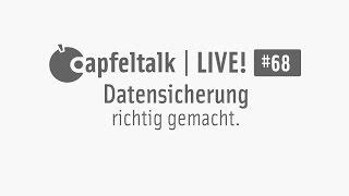Apfeltalk LIVE! #68 - Datensicherung richtig gemacht.