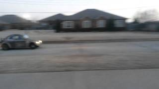 VW Dung Beetle Street Outlaws Making a Test Pass
