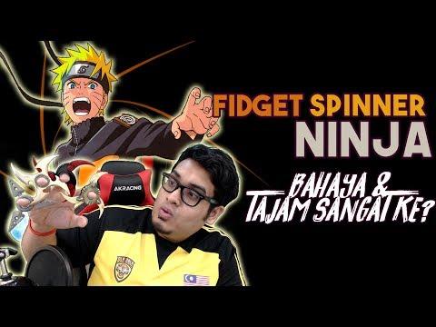 Fidget Spinner Ninja! Tajam Sangat ke? | Fidget Spinner Malaysia