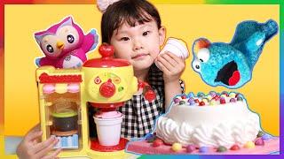 그림의 떡! 콩순이 딸기 케이크 알록 달록 카페놀이 LimeTube & Toy 라임튜브 puppet show