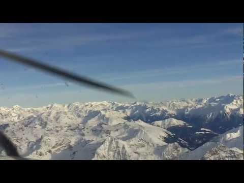 Alpenrundflug vom Airport Samedan St  Moritz mit Ernst Crameri