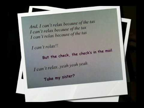 Because of the Tax: By Otherbrother--LYRICS