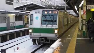 JR常磐線松戸駅JL22 東京メトロ千代田線6000系 各駅停車我孫子行き発車