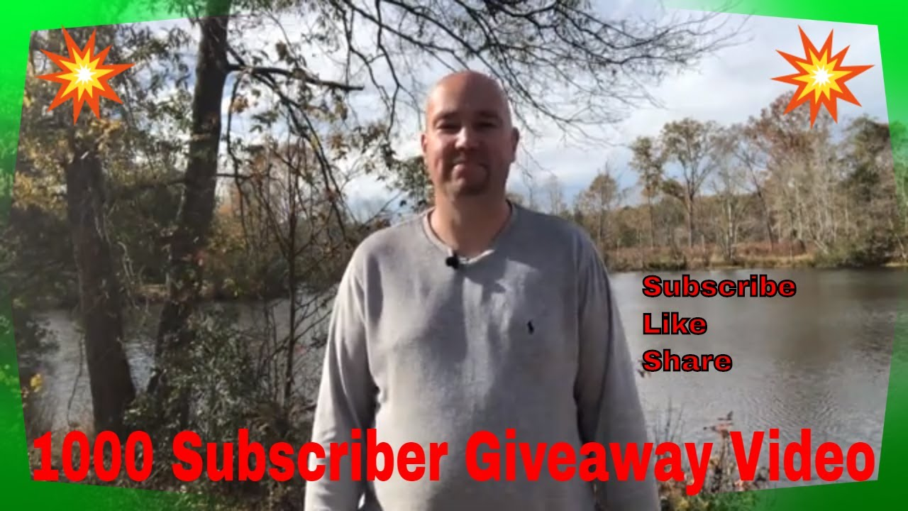 1000 Subscriber Giveaway Celebration Video and Special Get Together Announcement