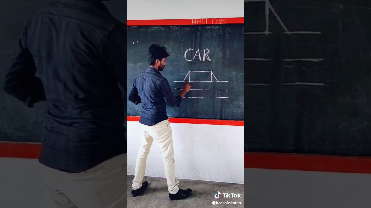 Who draw a car
