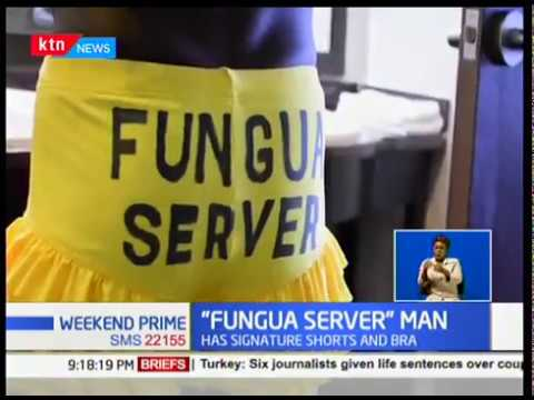 The man behind 'Fungua Server':One man from Kisumu county stood out with his signature dressing