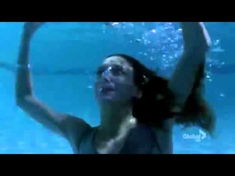 Harper's Island - Katie Cassidy is trapped under pool cover, DROWNS, SAVED (UNCONSCIOUS, CPR)