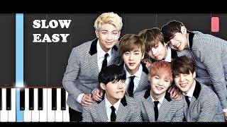 BTS - Make It Right (SLOW EASY PIANO TUTORIAL)