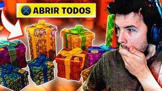 ABRO TODOS LOS REGALOS DE FORTNITE