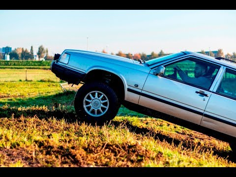 How To Lift a Volvo 940 5 Inches! - LucaCarMods.com