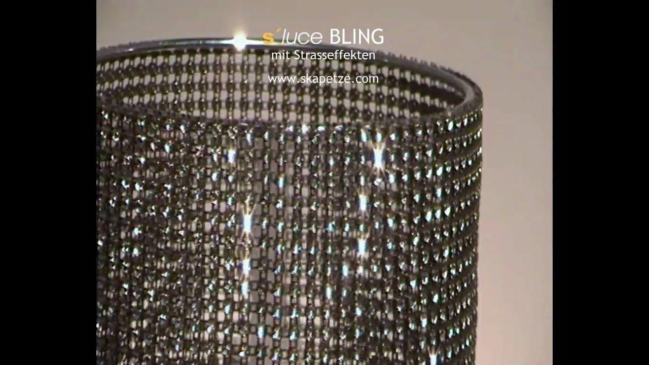 s luce bling leuchten mit strass effekt licht design. Black Bedroom Furniture Sets. Home Design Ideas