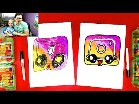 Кавайный ИНСТАГРАМ лого - Как нарисовать Инстаграм с Павликом