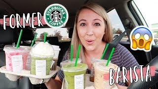 TRYING MY SUBSCRIBER'S FAVORITE STARBUCKS DRINKS! *former barista*