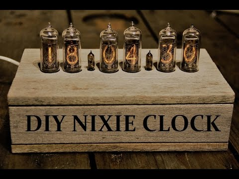 diy nixie clock tube clock nixie uhr youtube. Black Bedroom Furniture Sets. Home Design Ideas