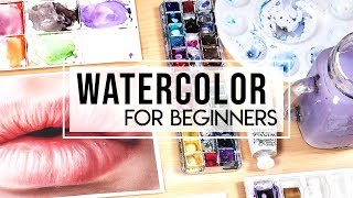 HOW TO USE WATERCOLOR - Guide for Beginners
