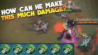 100% DAMAGE on ROGER! Mobile Legends New Hero Gameplay/Build