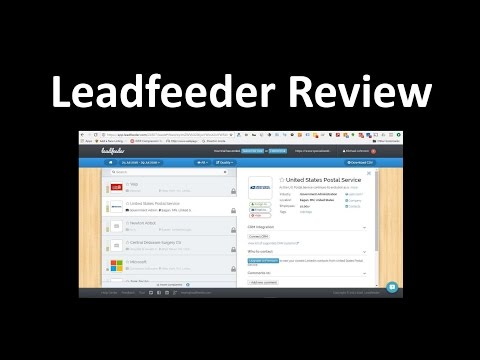 Leadfeeder.com Review – B2B Sales Leads