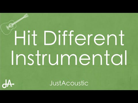Hit Different – SZA ft. Ty Dollar $ign (Acoustic Instrumental)