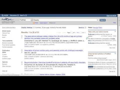 Searching PubMed with Keywords