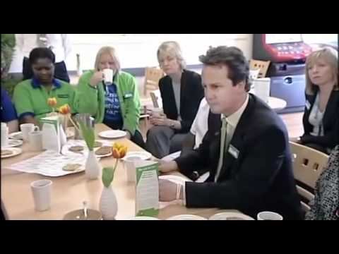David Cameron exposed - Cameron hides his contempt for Asda workers.flv