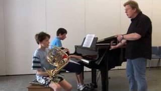Afdeling koporen blaasinstrumenten - Waldhoorn