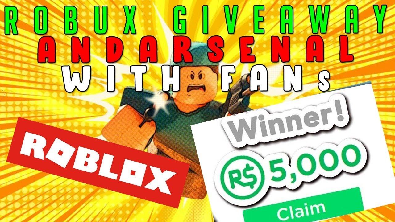 Kia Pham Robux 5k Robux Giveaway 1v1ing Viewers Arsenal Youtube