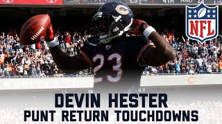 Devin Hester's 14 Career Punt Returns for Touchdowns | #CountdownToKickoff | NFL