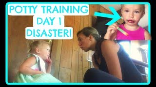 POTTY TRAINING DAY 1 DISASTER!