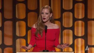 Jessica Chastain honors Agnès Varda at the 2017 Governors Awards