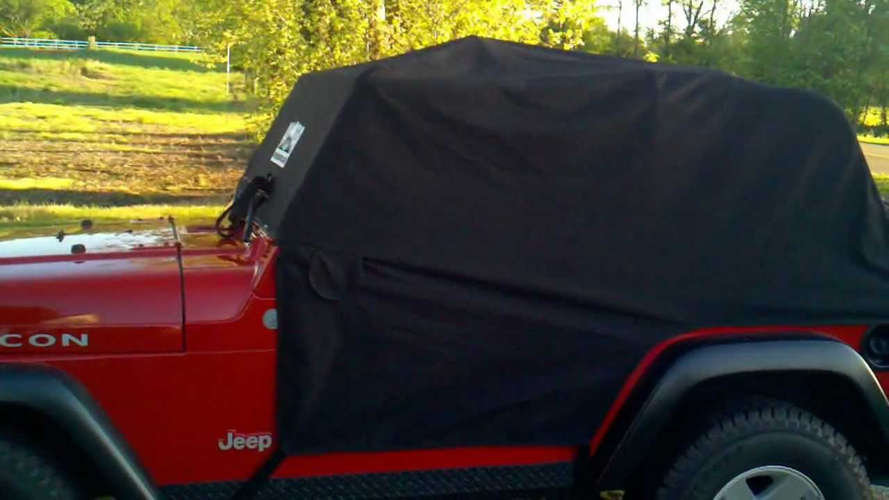 d61515abff1 Review of RainGear Cab Cover for Jeep Wrangler - YouTube