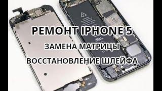 iPhone 5 ремонт. Замена матрицы и восстановление шлейфа(, 2015-08-13T01:06:07.000Z)