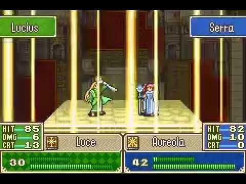 Serra (Aureola) vs Lucius (Luce) - Fire Emblem Blazing Sword. -REQUESTED-